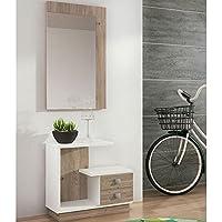 LIQUIDATODO ® - Mueble de recibidor moderno y barato en color nelson/blanco - star