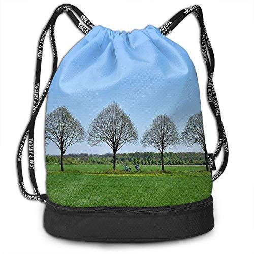Rucksäcke,Sporttaschen,Turnbeutel,Daypacks, Drawstring Backpack Bundle Gym Bike Duffel Bag Knapsack Fashion Waterproof Sport Bag for Men Woman School Travel Star Moon Horse Print Pack -