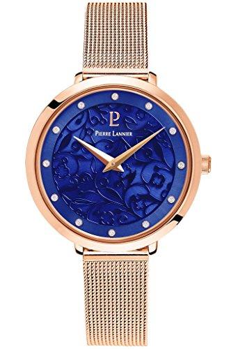Montre Femme Pierre Lannier - 039L968 - EOLIA - Plaqué Or Rose et Bleu Marine - Bracelet Milanais