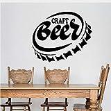 Adesivi E Murali Da Parete Tappo Di Bottiglia Home Bar Pub Birra Artigianale Alcool Vinile Home Decor Wall Sticker Decalcomanie Smontabili Murale Wallpaper Art Design 50Cmx42Cm