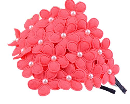 Cuhair (TM) 1 pcs Fleur en mousseline avec perles Motif Cheveux Hoops Bandeaux Accessoires pour Kid Fille Cadeau de Noël Nouvel An