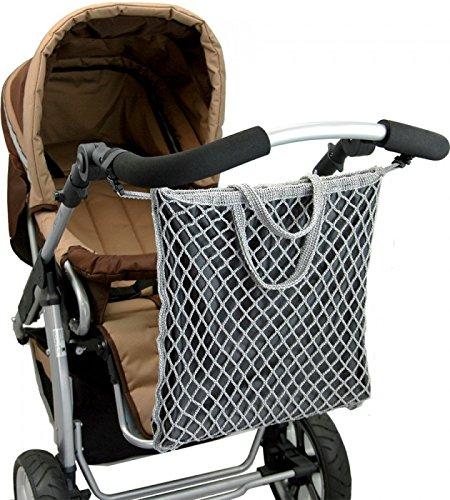 """ASMi Kinderwagen-Einkaufstasche mit Innenfutter \""""Clippi All Star\"""" grau (40623)"""
