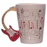 Tazza mug colazione in ceramica con Manico a Chitarra Acustica Elettrica
