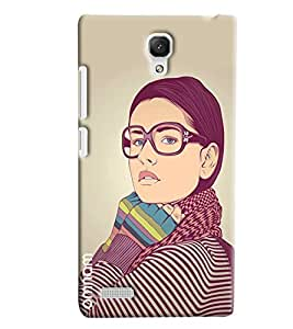 Omnam Black Cat With Art Effect Printed Designer Back Cover Case For Xiaomi Redmi Note