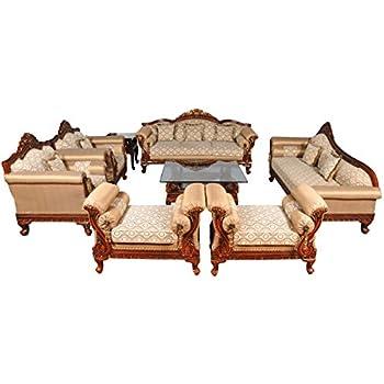 Woodkartindia Royal Design Maharajah Look Sofa Set Couch