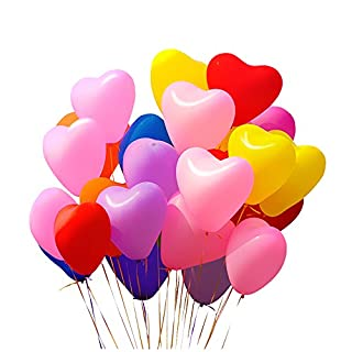 Shengchu 12 Inches Assorted Color Party Balloons Pearl Love Style Balloons (100 pcs)
