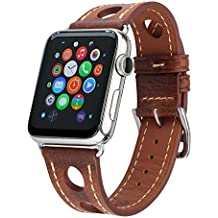 89f158d298bf Bonivita Correa para Apple Watch 38 mm 42 mm Hermes de Piel auténtica con  Cierre de