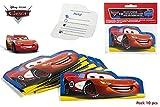 Unbekannt Disney Cars. Pack 10 Einladungen und Geburtstage.