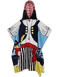 Calidad 100% algodón infantil de natación con cierre ajustable toalla de baño Poncho con capucha, 7 Designs