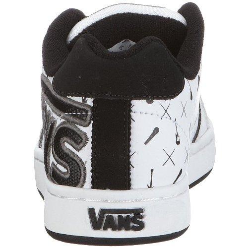Vans VKX21A6 B WIDOW, Scarpe da ginnastica ragazzo Bianco (Weiss ((band)white/bla))