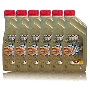 Castrol Edge Professional C15W-30 Lot de 6 bidons de 1 litre d'huile avec Titanium FST pas cher
