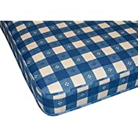 Starlight Beds Ltd BLUE CHECK 3ft Single Mattress (3ft Single Mattress 90cm x 190cm)