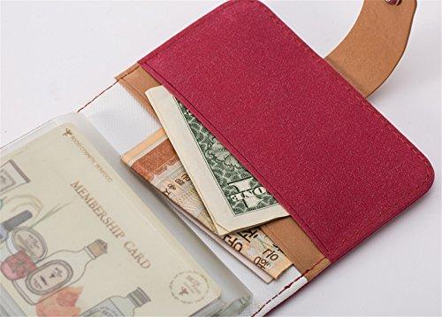 Longra Donna Borsa multifunzione pickup, borsa, portafoglio Rosso