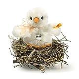 Steiff 033087 Küken im Nest 12 cm aus hochwertigem Alpaka weiß