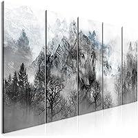 Leinwandbild Kunst-Druck 125x50 Bilder Tiere Wölfe im Winter