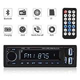 Autoradio Bluetooth Ricevitore, ieGeek universale Wireless singolo Din In-Dash Radio stereo Bluetooth MP3, vivavoce Chiama per smartphone, Kit adattatore radio per trasmettitori FM