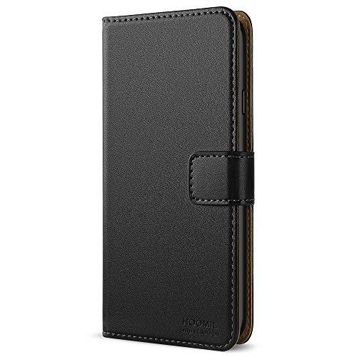 HOOMIL iPhone 6 Hülle,iPhone 6S Hülle, Premium Handy Schutzhülle für iPhone 6 / 6S Hülle Leder Wallet Tasche Flip Brieftasche Etui Schale 4,7 Zoll, Schwarz (H3005)