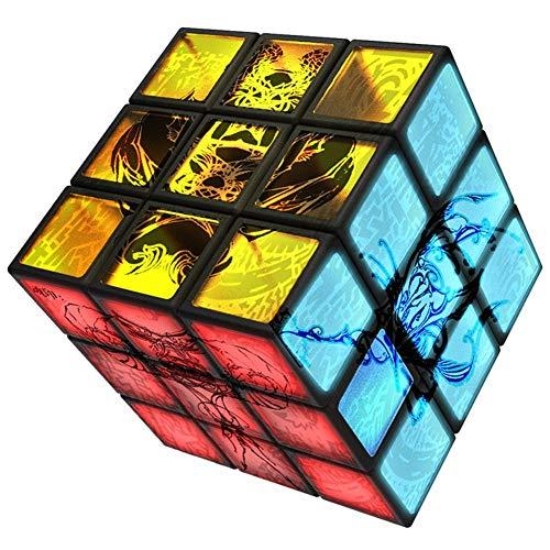 ZXIAOY Alien Speed Cube 3. Ordnung Geformten Würfel Mit LED-Licht, Lernspielzeug Büro Flip Cubic Puzzle Dekompression Spielzeug Reliever Autismus Spielzeug