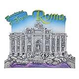 Kesheng Imán para Nevera Roma Italia Fuente de Trevi Roma 6x7.3x0.5cm
