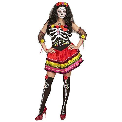 Widmann 65689 Erwachsenenkostüm Mujer Dia De Los Muertos, -