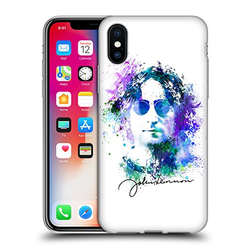 Offizielle John Lennon Gitarre Kunst Soft Gel Hülle für Apple iPhone 6 / 6s Spritzen