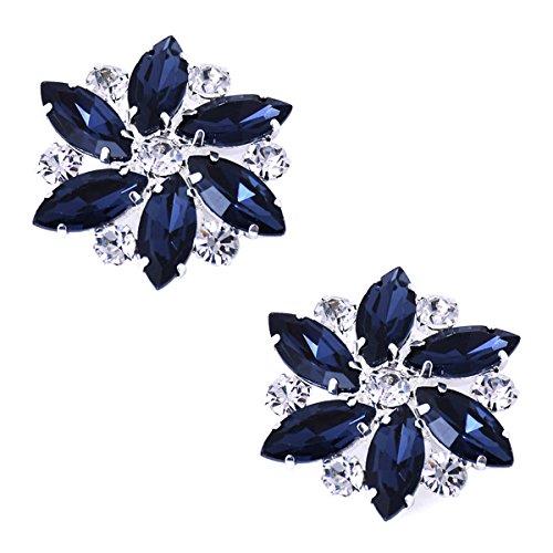 Kleider AJ Party Tanzschuh Marineblau Schuh 2 Clutch St篓鹿ck Passenden Tasche clips Fashion Strass ElegantPark Hat Schuhe Damen vxTSdvq