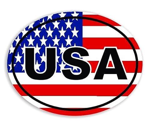 USA - American - America Flag Voiture Autocollant / Car Sticker Sign