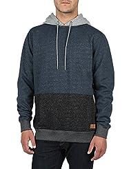 Volcom Herren Kapuzenpullover Threezy Sweatshirt Hoodie Herren Kapuzen-pullover Blau