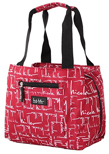 Nicole Miller of New York Insulated Lunch Cooler- Red 11 Lunch Tote by Nicole Miller (Rucksack Canvas Everest)