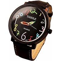 LILICAT Relojes Mujer Reloj Reloj De Cuarzo Reloj Reloj De Cuarzo De Cuarzo Literario (Negro)
