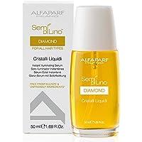 Alfaparf semi di lino Diamond cristalli liquidi Instant Illuminating serum 50ml set con Stapiz Hair shampoo 15ml o maschera 10ml