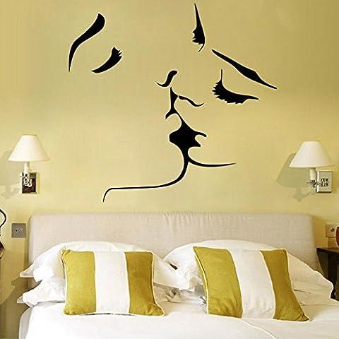Liebenden Kuss süße Persönlichkeit kreative Wohnzimmer Schlafzimmer Dekor Wandsticker Aufkleber Sticker abnehmbare (Romantische Kuss)