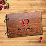 Sehaz Artworks Baby Love Scrapbook Photo Album for Memorable Gift on Born Baby Birthdays, Niece, Nephew First Birthday for Couples (22 cm x 16 cm x 4 cm, Brown)