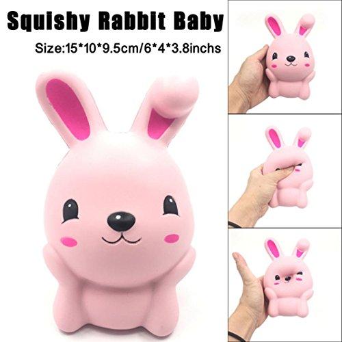 4 Tier-mesh (DOLDOA Stress Relief Spielzeug,Pink Cute Kaninchen Squeeze Langsam steigende Spaß Spielzeug Geschenk Telefon Strap Dekor, 6