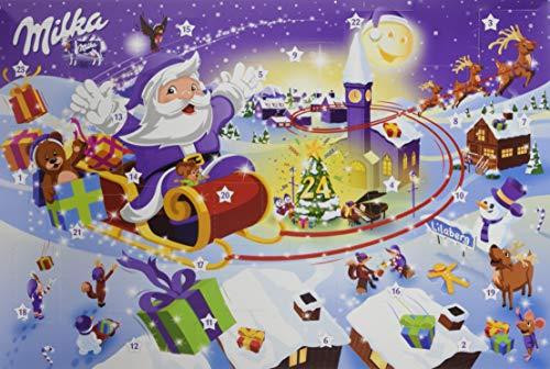 Milka Adventskalender Weihnachten sortiert, 1er Pack (1 x 200 g)
