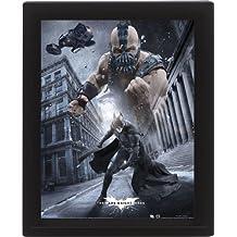 Pyramid International - Póster lenticular 3D enmarcado (10 x 8 cm), diseño de El caballero oscuro: la leyenda renace