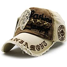 GADIEMENSS Trucker Hat cotton Personality Vintage Embroidered Snapback Baseball Cap