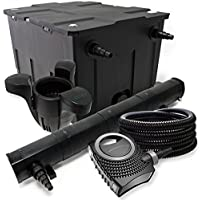 Kit de filtración con Bio Filtro 60000l, 72W UV esterilizador, Bomba de estanque, skimmer y manguera