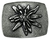 Brazil Lederwaren Gürtelschließe Edelweiß 4,0 cm