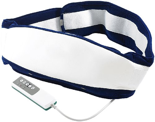newgen medicals Massagegürtel mit Wärme: Massagegürtel für den ganzen Körper mit 3 Programmen und Wärmefeld (Bauchmassagegürtel)