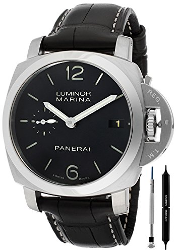 PANERAI LUMINOR MARINA 1950 HOMME 42MM AUTOMATIQUE CUIR BRACELET MONTRE PAM00392