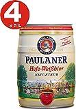 4 x Paulaner Hefe-Weissbier naturtrüb naturalmente nublado cerveza de trigo 5,5% vol cerveza barril...