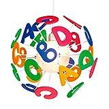 SUL LETRAS - Lampada sospesa per bambini con lettere colorate, pvc, multicolore