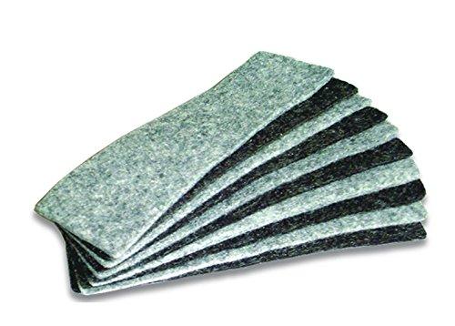 Bi-Office Effaceur coussins de feutre pour Rechange 128 x 60 mm Gris