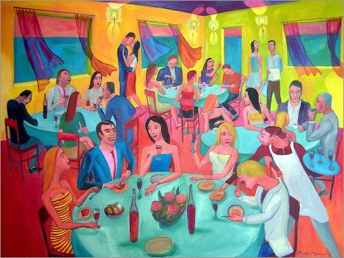 Unbekannt Alu Dibond 120 x 90 cm: Klassentreffen 7b von Diego Manuel Rodriguez