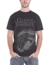 Game of Thrones T Shirt Jumbo Stark Direwold House Sigil Official Mens Black
