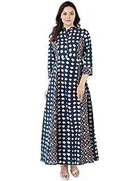 Khushal Cotton Printed Long Lenght Anarkali Designer Kurta/Kurti For Women's/Girls' BEST Party Wear, Women's Designer...