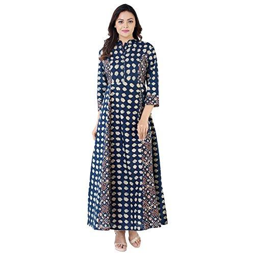 Khushal Cotton Printed Long Lenght Anarkali Designer Kurta/Kurti For Women's/Girls' BEST Party...