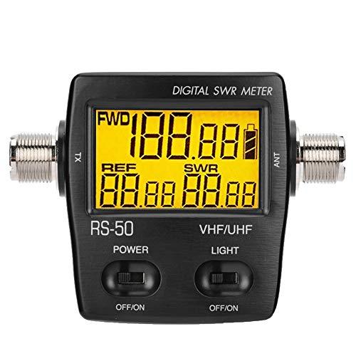Tragbares digitales Kurzwellen-Stehwellenmessgerät von Bewinner, 120 W maximale messbare Leistung, beleuchtetes LCD-Display, Ein-Knopf-Vorwärtsleistung / reflektierte Leistung / VSWR-Verhältnis