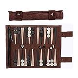 Sondergut - Backgammon da viaggio, in vera pelle